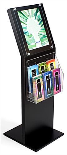 Literature Stand: Black w/2 Tiered 6 Pockets