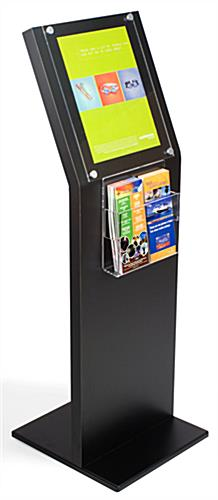 "Black Brochure Stand: 11"" x 14"" Sign Holder"