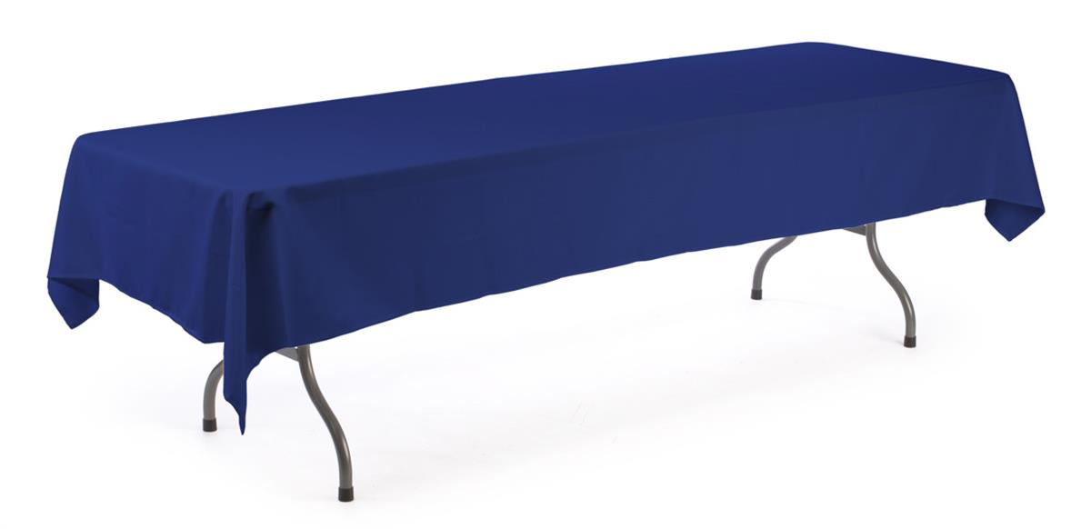 These banquet table skirts are 10 feet long these royal for 10 ft table cloth
