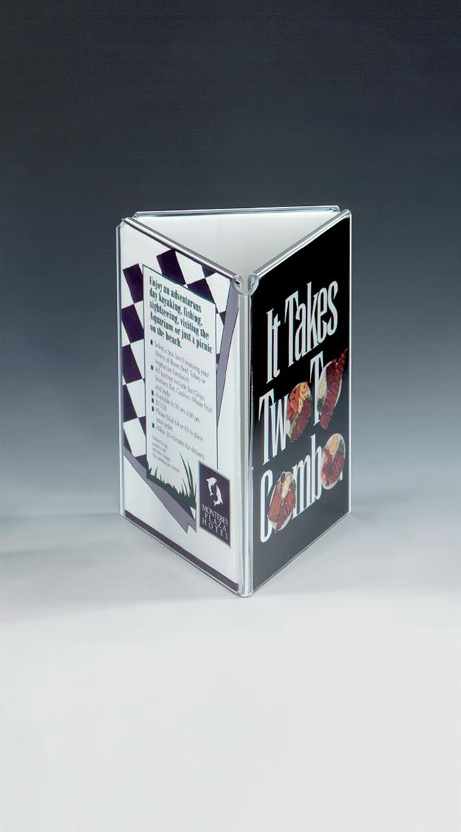 this picture frame is tri fold this picture frame is available in several sizes for your advertising displays