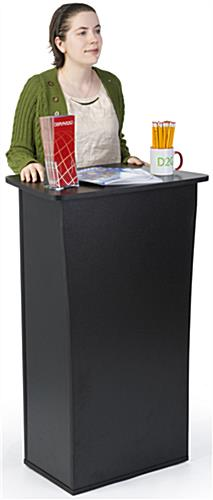 Black MDF Knock Down Trade Show Counter