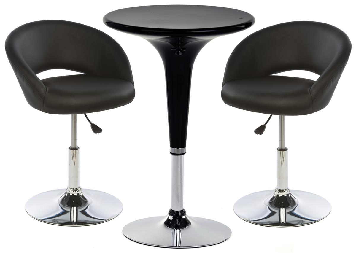 Black Bar Table And Stool Sets Lightweight Design