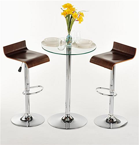 This Glass High Top Table And Chairs Is Modern Furniture For Dining