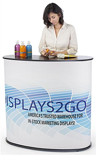 Curved Exhibit Counter for Trade Shows & Conventions