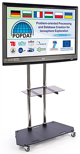 "Mobile TV Stand With Shelf For 37"" - 84""+ Television"