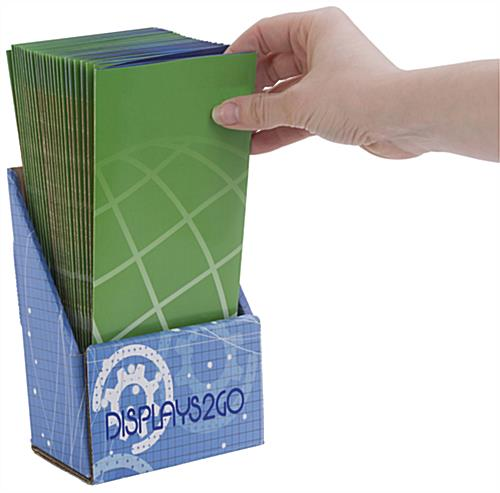 Custom Cardboard Brochure Holder, Full Color