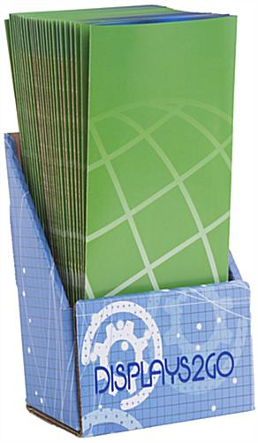 Custom Cardboard Brochure Holder w/ UV Printing