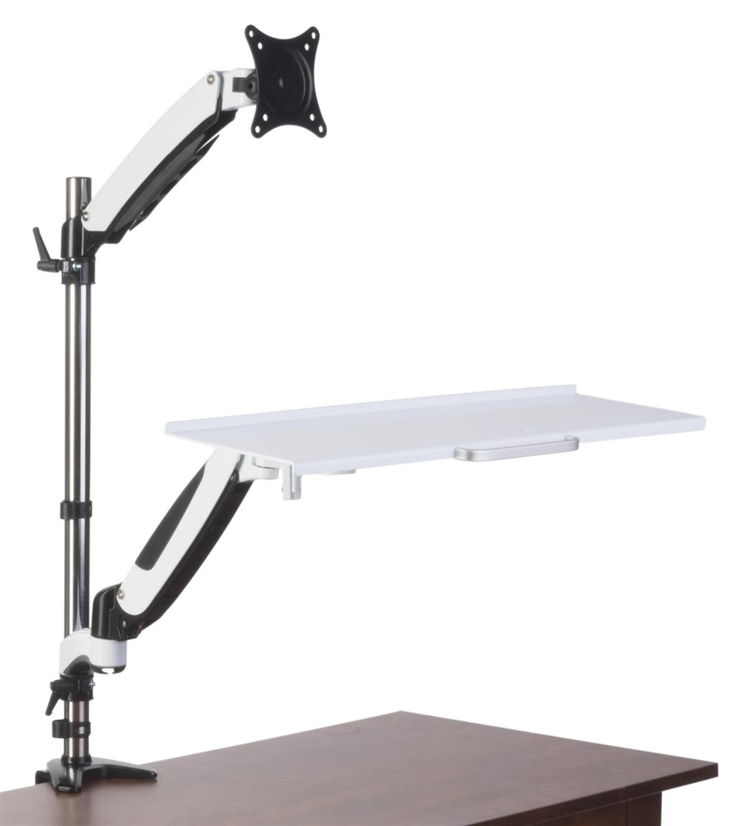 Workstations for table top white sit stand desk for Best workstation table