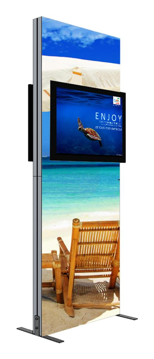 Portable Business Center : Double sided backdrop tv mount television displays for