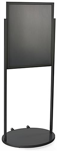 Black 22 x 28 Wheeled Poster Stand