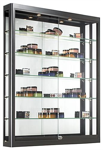 This Display Cabinet Features Two Z Bar Mounting