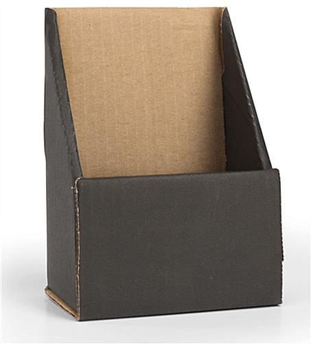 Black Trifold Brochure Holder with Single Pocket