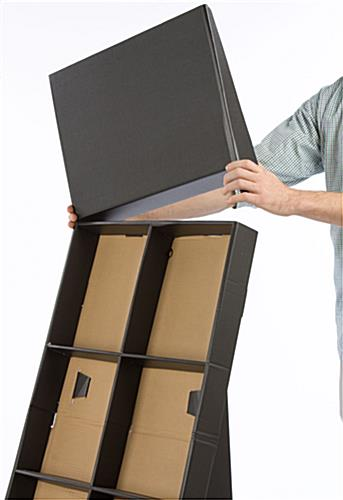 Retail Store Display: Corrugated Black Cardboard