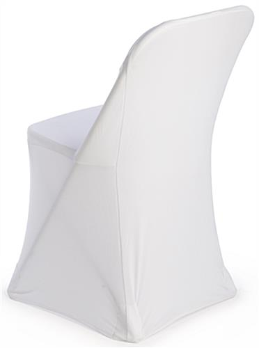 Folding Chairs With White Cover Machine Washable Fabric
