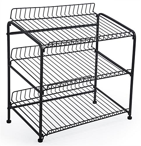 Wire countertop display rack
