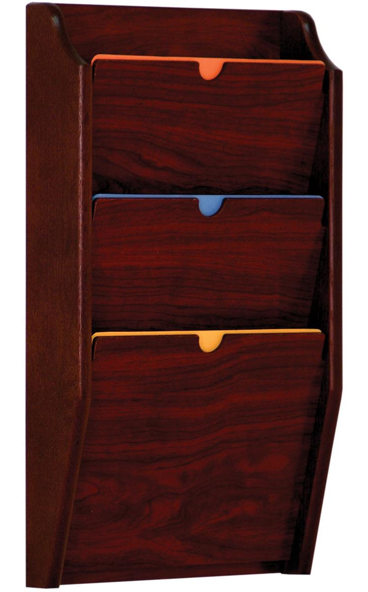 Wall File Holder Chart Rack With Three Tiers