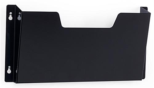 Wall File Hanging Rack has a Black Finish