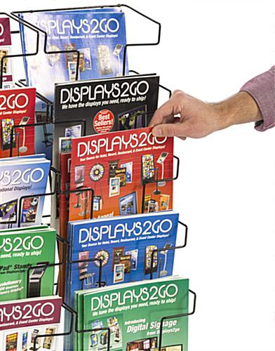Metal Wire Magazine Holder for Retail Environments