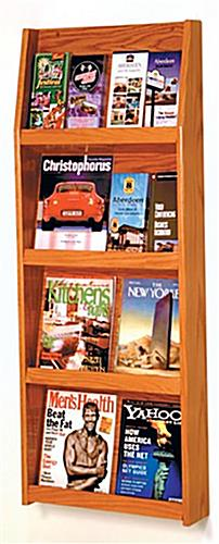 4-Tiered Wooden Magazine Rack
