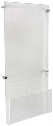 "18"" x 24"" Poster Display with Adjustable Literature Holder Organizer"