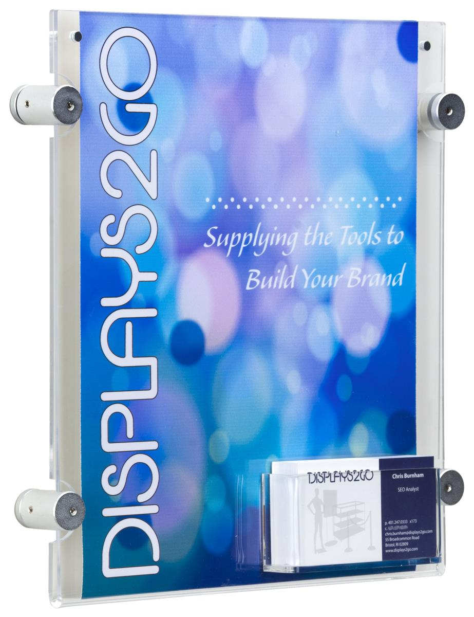 8 5 X 11 Sign Frame With Business Card Pocket Plastic