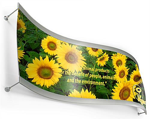 curved aluminum poster frame