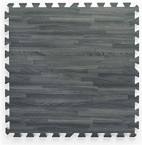 Cushioned Trade Show Flooring Mats 10x10 Gray Wood Grain