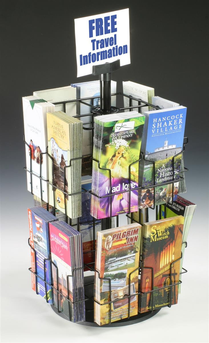 Wire Brochure Holders Countertop Racks With Signage Clip