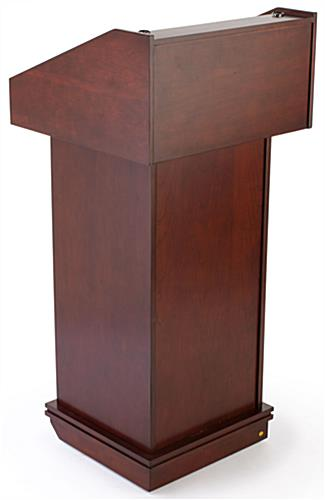 Wood Lecterns, Red Mahogany Finish
