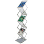 "Portable Literature Stand, 13"" Pocket Height"