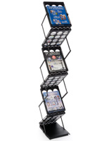Floor Standing Portable Magazine Holder
