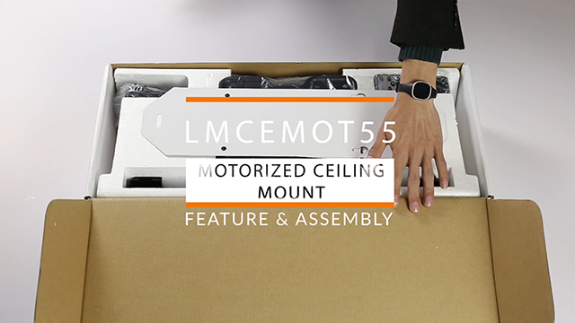 Motorized commercial overhead tv mount remote control for Motorized ceiling drop down tv mount
