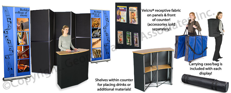 Exhibition Booth Counter : Trade show exhibit retractable banners knockdown counter
