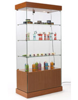 lockable showcase for jewelry