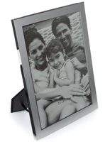 "8"" x 11"" Silver Plated Picture Frames with Glass Lens"