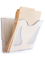 Clear Acrylic Wall File Folder with Deep Pocket