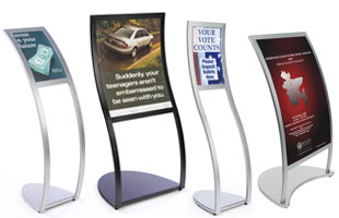Etonnant Curved Sign Stands