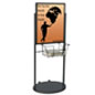 Black Wheeled 22 x 28 Poster & Literature Stand with Frame Support