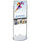 Silver 22 x 28 Mobile Poster Display with 10 Information Pockets for Trade Shows