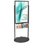 Black 24 x 36 Mobile Poster Display with 10 Literature Slots, Double Sided