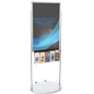 Mobile Silver 24 X 36 Poster Display with 10 Compartments, Rolling Signage
