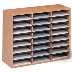 Wood Literature Sorter 24 Pockets For Office Or Retail