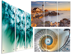 office wall prints. 3 Panel Wall Art On Acrylic. Three Acrylic Prints Office