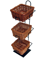 Basket Counter Display for Beverage Locations
