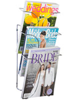 Metal 3-Tier Magazine Rack