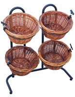Willow Basket Display Rack