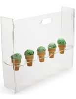 Countertop Ice Cream Cone Display
