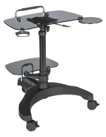 Sit To Stand Rolling Workstation with Metal Handle