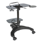 Height Adjustable Sit To Stand Rolling Workstation