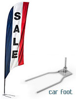 """SALE"" Swooper Flags with Car Foot Base"